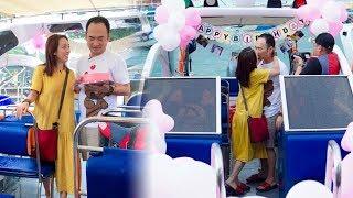 Sau ồn ào về clip cãi vả,Thu Trang hạnh phúc cười tít mắt vì quà sinh nhật cực lãng mạn củaTiến Luật