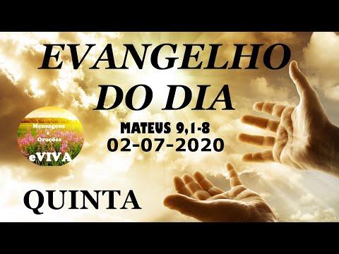 EVANGELHO DO DIA 02/07/2020 Narrado e Comentado - LITURGIA DIÁRIA - HOMILIA DIARIA HOJE