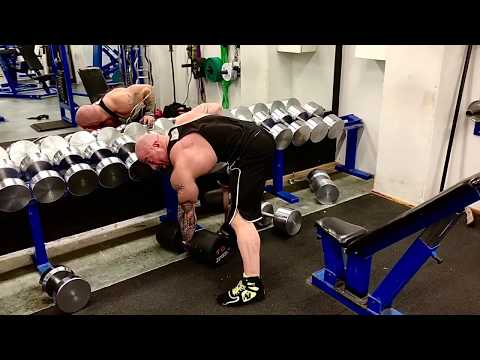 Check out this drop set for 1 arm dumbbell row! - Mika Nyyssölä