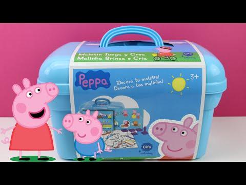 Peppa Pig - Maletín Juega y crea | Juguetes de Peppa Pig en español | Peppa la cerdita en español