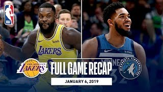 Full Game Recap: Lakers vs Timberwolves | Wiggins and Towns Combine For 56 Points