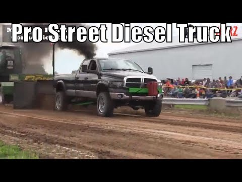 Pro Street Diesel Truck Class From WMP At Kent City MI 2018