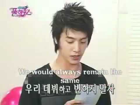 Donghae letter to Heechul ^^