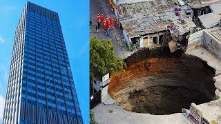 Top 10 Sinkholes Caught Swallowing Things On An EPIC Scale