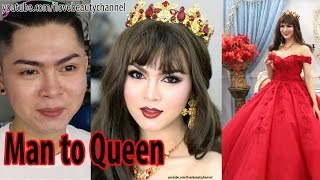 Man To Woman - Makeup Transformation Boy To Beauty Queen ✔