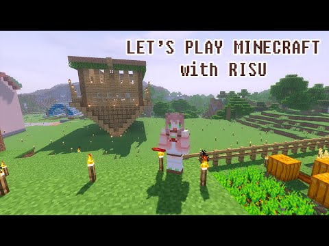 【hololiveID】#3 Minecraft with Risu : UPSIDE DOWN HOUSE【Ayunda Risu】