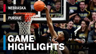 Highlights: Nebraska at Purdue | Big Ten Basketball