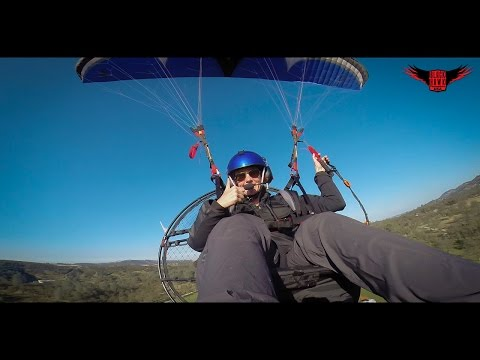 Heidi's FIRST FLIGHT on The New 4 Stroke Paramotor & Trike From BlackHawk + BLOOPER