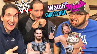FUNNIEST WWE Watch YA Mouth Game CHALLENGE EVER!