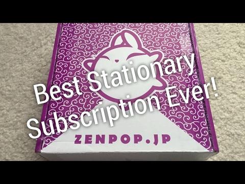 Japanese Stationary Subscription Box Unboxing! ZenPop