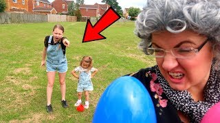Greedy Granny Plays Hide And Seek With Ruby Rube & Bonnie Kids Pretend Play