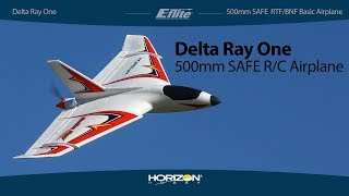 E-flite® Delta Ray® RTF/BNF Basic with SAFE Technology, 500mm Airplane