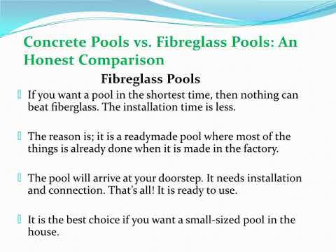 What Type of Pool is the Best? A Concrete or Fibreglass Pool?