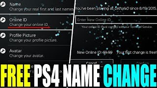 [NEW] HOW TO CHANGE YOUR PS4 NAME FOR FREE   HOW TO GET 100% FREE PSN NAME CHANGE