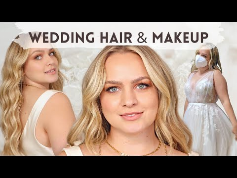 Wedding Hair and Makeup – Get Ready to Try on Wedding Dresses with me!! – KayleyMelissa
