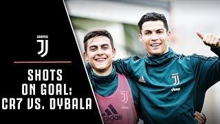 JUVENTUS SHOOTING CHALLENGE! | RONALDO VS DYBALA VS HIGUAIN VS BERNARDESCHI VS PJACA
