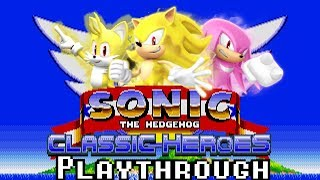 [TAS] Sonic Classic Heroes: Runthrough as Team Super Sonic