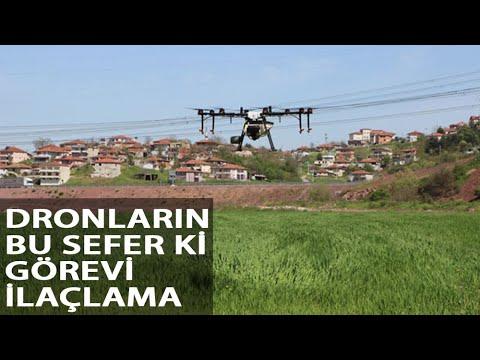 Tarım Arazileri Dronla İlaçlandı