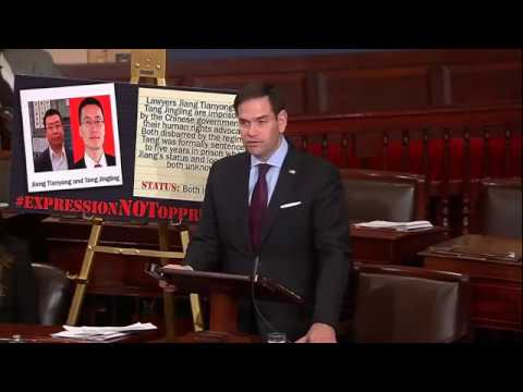 In human rights speech, Rubio highlights two political prisoners in China