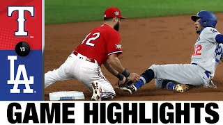 Dodgers ride three home runs to 7-2 win | Rangers-Dodgers Game Highlights 8/30/20