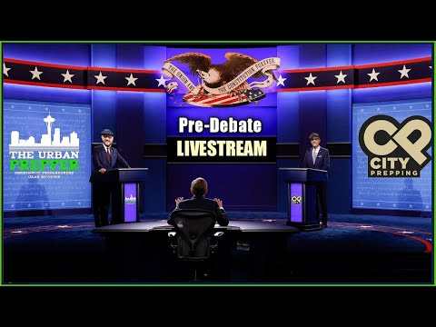 CITY PREPPING Livestream| Pre-Debate Discussion | Presidential Election