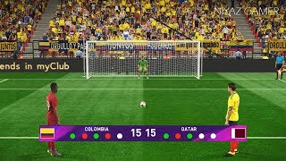COLOMBIA vs QATAR | Penalty Shootout | PES 2019 Gameplay PC