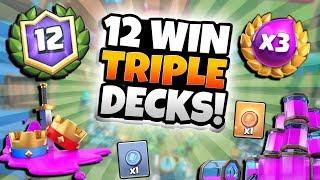 NEW TRIPLE ELIXIR 12 WIN BATTLE DECKS! BAIT OP! | Clash Royale | NEW TRIPLE ELIXIR BEST DECKS!