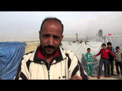 مفوض الأمم المتحدة للاجئين يتفقد النازحين السوريين في لبنان