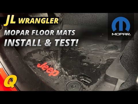 Mopar Jeep Wrangler JL All Weather Foor Mat Install and Test