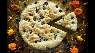 Blueberry Ginger Buttermilk Cake (vegan and gluten-free)