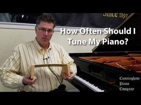 How often should I tune my piano?