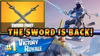 The Sword is Back In Fortnite ! Sword Fight LTM Mode Game play Infinity Sword