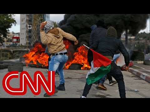 Protests in West Bank over Trump's Jerusalem decision
