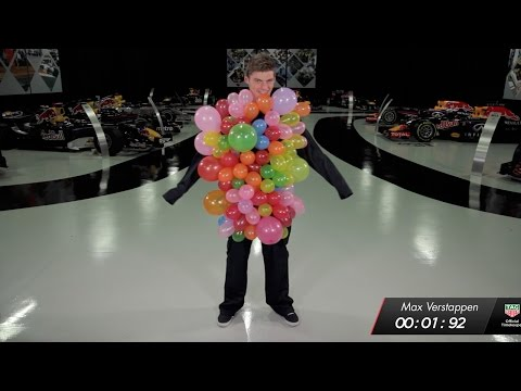 The Red Bull Racing 1.92 Second Challenge: Balloons! - Max Verstappen