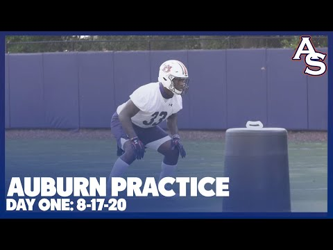 AUBURN FOOTBALL: Practice on 8-17-20