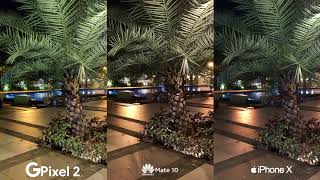 Google Pixel 2 vs Huawei Mate 10, Apple iPhone X Camera Comparison