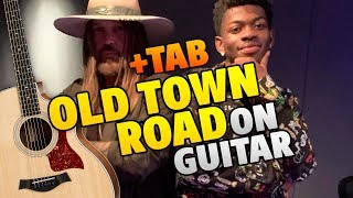 Lil Nas X ft. Billy Ray Cyrus - Old Town Road (Fingerstyle Guitar Cover With Tabs And Karaoke Lyrics)