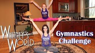 Gymnastics Challenge | Gymnast and Not-a-Gymnast | Whitney & Gia