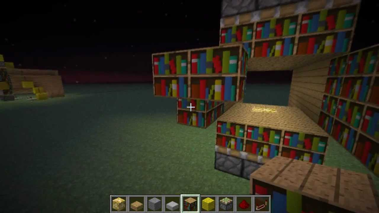 Minecraft Tutorial Most Compact Enchantment Room Design