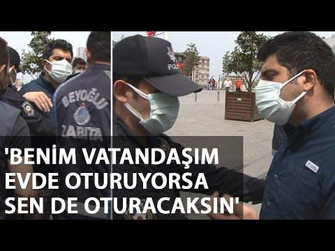 İstanbul'da İkamet Kartı Bulunan Kişiye Polisten Ders Gibi Cevap