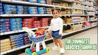 ONE YEAR-OLD GOES GROCERY SHOPPING FOR HER PARENTS!!! (ADORABLY CUTE)