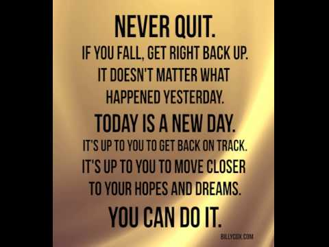 Today Is A New Day, You Can Do It - Billy Cox