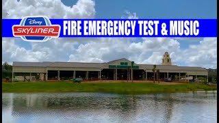 Disney Skyliner Fire Emergency Evacuation Test and Music Inside the Caribbean Beach Resort Station