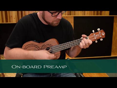 Luna Maluhia Peace Concert Electro-Acoustic Ukulele