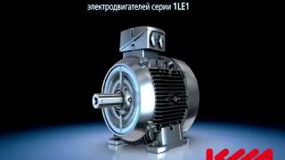 Комплектующие производства компрессоров Ceccato - на видео видно исполнение качественного электродвигателя передающего крутящий момент на винтовой блок Atlas Copco