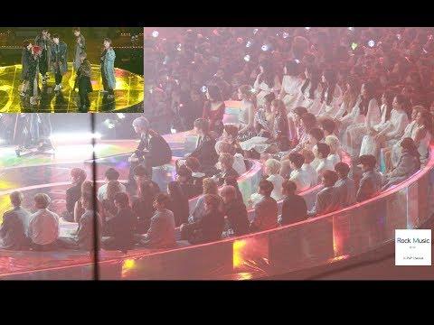 BTS 아이돌 (IDOL) reaction (블랙핑크, 워너원, 여자친구, 아이콘,마마무,더보이즈)[4K 직캠]@181201
