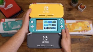 Nintendo Switch Lite Unboxing: All Colors!