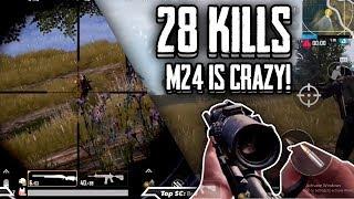 Insane M24+M416 Squad win!   PUBG Mobile Light speed & Quantum Studios