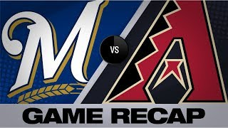 Moustakas' 3-run HR leads Brewers by D-backs | Brewers-D-backs Game Highlights 7/20/19
