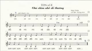 Tập đọc nhạc số 8 lớp 7 || Chú chim nhỏ dễ thương || TĐN số 8 lớp 7